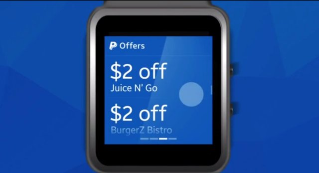 paypall app smartwatch
