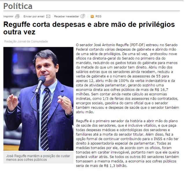 reguffe senador político política Brasil