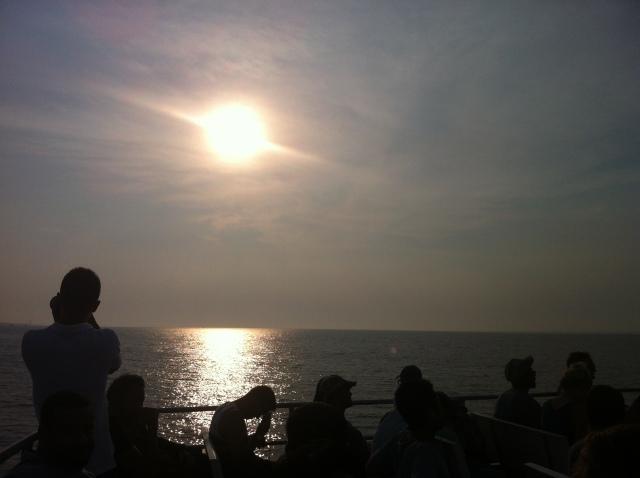 ferry fire island